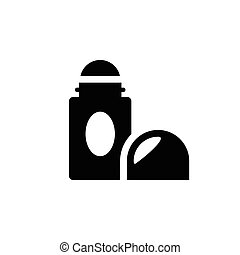 Roll on deodorant icon isolated on white. Vector...
