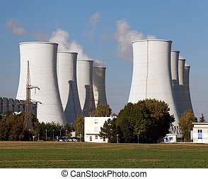 Nuclear power plant, cooling towers - Slovakia