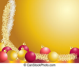 baubles and tinsel - a background illustration with...