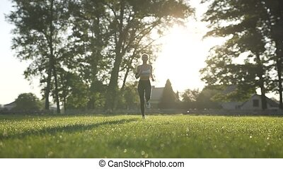 Morning Running in Park
