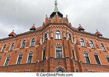 Archbishop Seminary near Wawel Castle in Krakow, Poland. -...