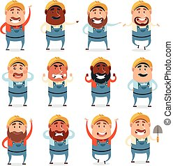 Set of builder flat cions - Vector image of the Set of...