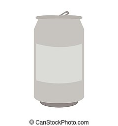 Isolated beer can on a white background, Vector illustration