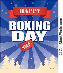 Vintage vector happy Boxing Day design