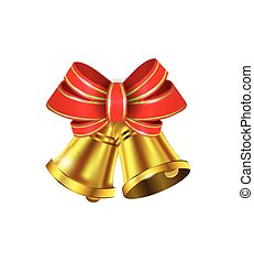 Vector Gold Christmas bells