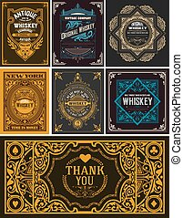 Seven cards for packing