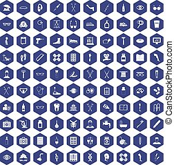 100 disabled healthcare icons hexagon purple - 100 disabled...