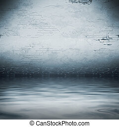 flood - An image of a dark cellar under water