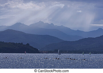 Silver Blue Seascape Elba Island Italy - Ethereal atmosphere...