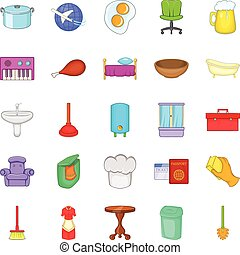 Community icons set, cartoon style - Community icons set....