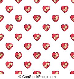 Baby love pattern seamless - Baby love pattern in cartoon...