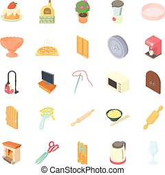 Homestead icons set, cartoon style - Homestead icons set....