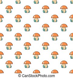 Kids toy mushroom pattern seamless