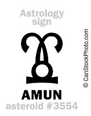 Astrology: asteroid AMUN - Astrology Alphabet: AMUN,...