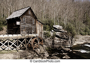 Grist glade creek mill in West Virginia state