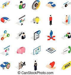 New workforce icons set, isometric style - New workforce...