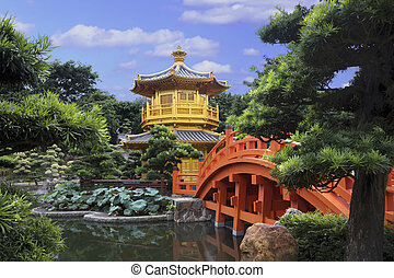 Pavilion Of Absolute Perfection In Nan Lian Garden, Hong Kong