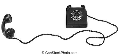 bakelite telephone with long cable - old bakelite telephone...