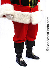 Santa Claus - Lower half of Santa Claus with red velvet...