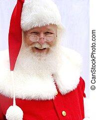 Santa Claus Close Up - Close up traditional male Santa Claus