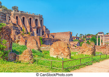 Archaeological and historical objects in Rome, united by the...
