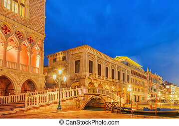 Embankment of the Grand Canal and the Doge's Palace (Palazzo...