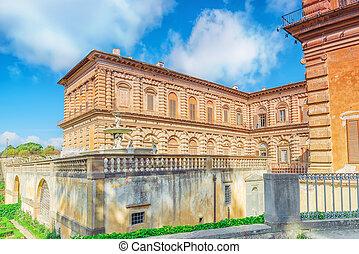 Pitti Square (Piazza pitti) and Palace of Pitti (Palazzo...