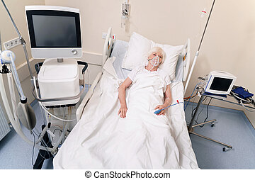 Sad ailing lady hoping going home soon - Rest is the best...
