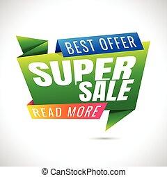 best offer read more super Sale Banner Design on white...