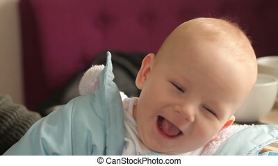 Image of sweet baby boy, cute toddler with blue eyes - Image...