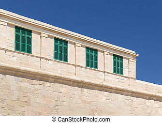 Old Buildings in the old town of Valetta on Malta