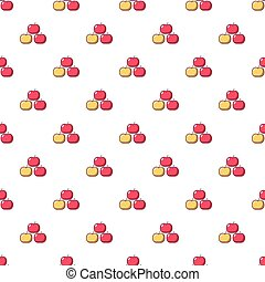 Apples pattern seamless - Apples pattern in cartoon style....