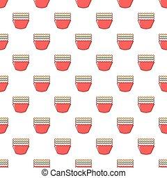 Baking molds pattern seamless