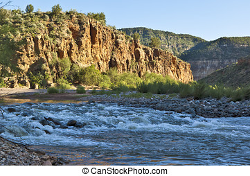 Salt River Rapids - The flowing rapids of the Salt River in...