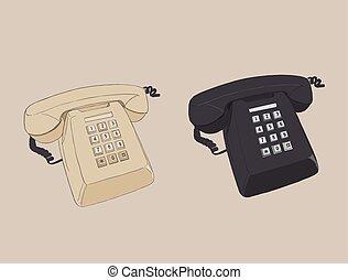 Old vintage retro telephone.