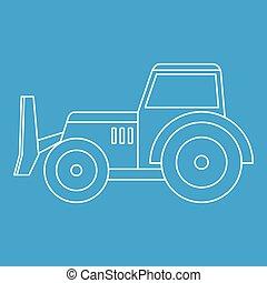 Skid steer loader icon outline - Skid steer loader bulldozer...