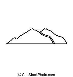 Mountain black color icon .