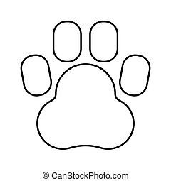 Animal footprint black color icon .