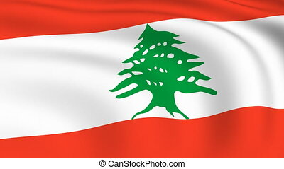 Flying Flag of LEBANON | LOOPED |