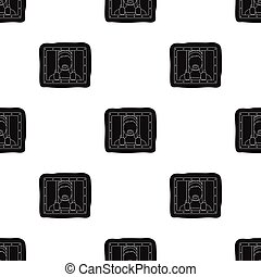 Prisoner icon in black style isolated on white background....