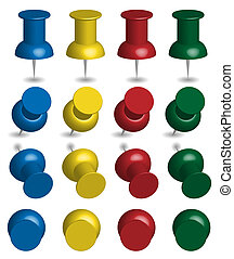Set of Color Pushpins
