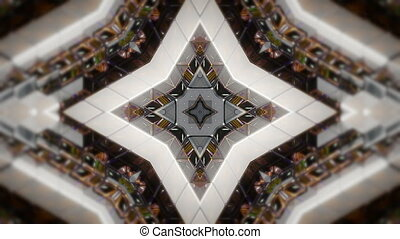 Abstract background with technology kaleidoscope. Seamless...