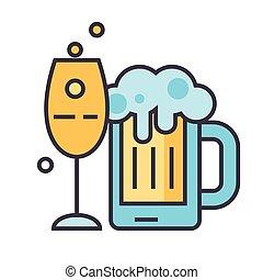 Beer, alcoholic drink, pub, beverage, pint, bottle concept....
