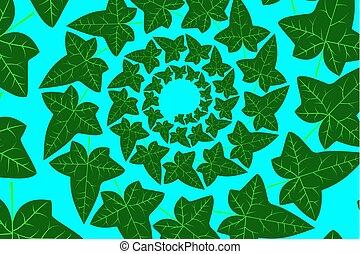 Ivy leaf - vector green pattern