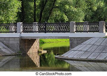 Beautiful pedestrian bridge.