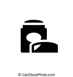 Dry deodorant icon isolated on white. Vector illustration