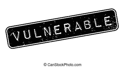 Vulnerable rubber stamp. Grunge design with dust scratches....