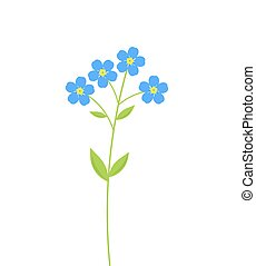 Forget me not flowers - Forget me not blue flowers. Vector...