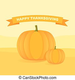 Happy Thanksgiving Day celebrations with pumpkins