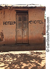 Rustic Hotel Building - Rustic Rundown Hotel Building with...
